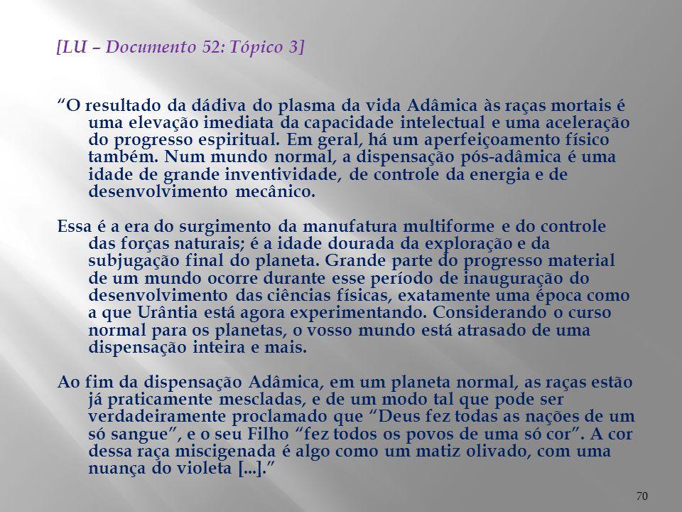 [LU – Documento 52: Tópico 3]